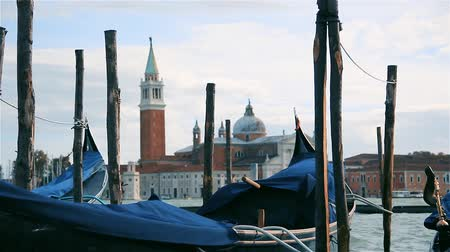 Венеция : Gondolas Moored In Venice, Italy.