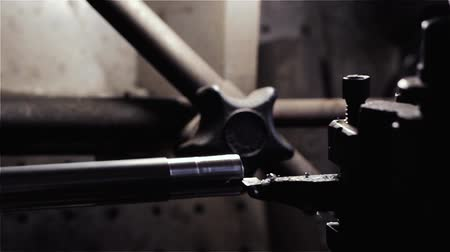 Industrial Lathe. Close-Up.