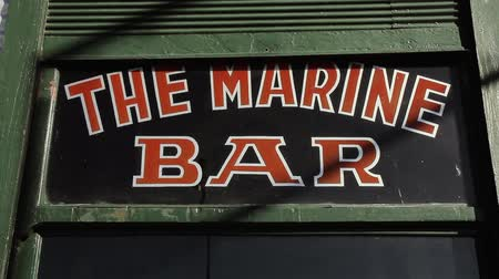 The Marine Bar. Close-Up. Old Cafe Of Buenos Aires (Argentina). Stock mozgókép