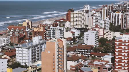 sea port : Villa Gesell City, Buenos Aires Province, Argentina. Stock Footage