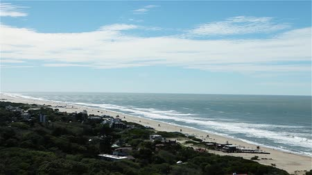 sea port : Villa Gesell Beach, In Argentina.