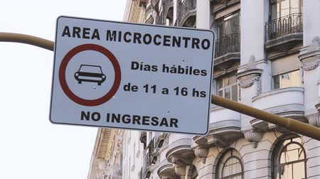 city limits : Road Sign In Buenos Aires, Argentina.