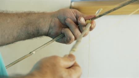 Father Making Kite.