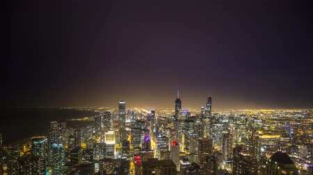 гром : Chicago time lapse during lighting storm