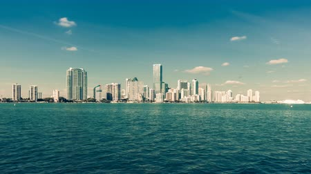 urban skyline : Miami Downtown Skyline Florida. Time lapse. Stock Footage