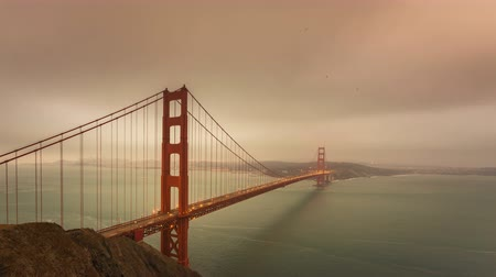 gates : Golden Gate Bridge late afternoon time lapse, San Francisco, California.