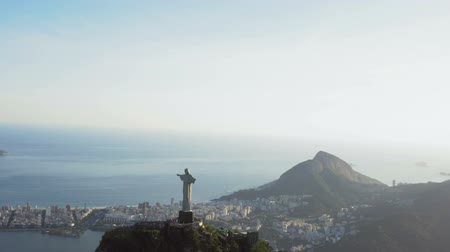 jezus : Aerial view of Christ and Ipanema Beach, Rio de Janeiro Wideo