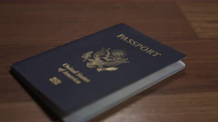 gümrük : Dolly Shot of United States Passport, Shallow DOF