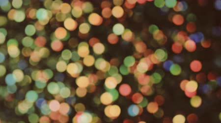 party disco : Defocused bokeh lumières glitter background. Plan Barrel roll Vidéo