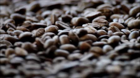 nespresso : Spinning Coffee Beans Stock Footage