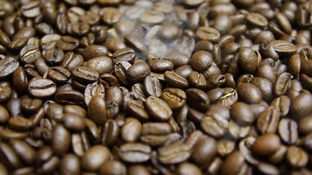 nespresso : Roasting Coffee Beans Stock Footage