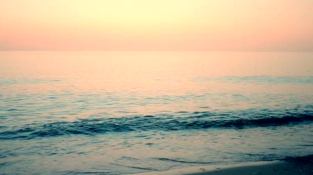 serene : calm sea with filter