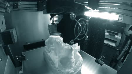 čtyřicet : 3D printer working close up. Automatic three dimensional 3d printer performs plastic. Modern 3D printer printing an object from the hot molten. Concept progressive additive technology for 3d printing.