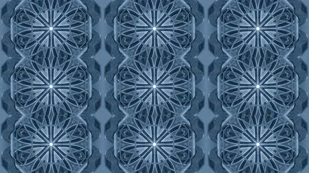 kosočtverec : Abstract kaleidoscope motion background. Sequence multicolored graphics ornaments patterns.Blue and white, geometric lines. Seamless loop. Bright impulsively luminous fire light backdrop