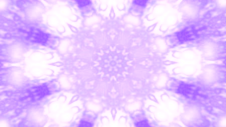 nativo : Abstract kaleidoscope motion background. Sequence multicolored graphics ornaments patterns. Purple white, Christmas New Year lace motifs sequins, falling snow. Seamless loop. Winter Light backdrop.