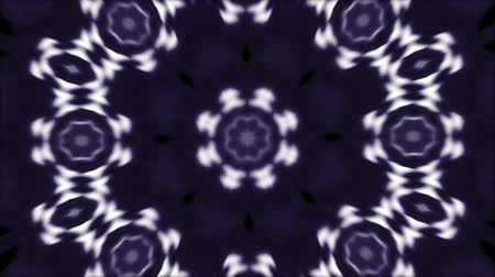 dinamic background : Abstract animated kaleidoscope motion background. Sequence multicolored graphics ornaments patterns. White blue black color. Bright luminous light backdrop. Multicolored seamless loop background.