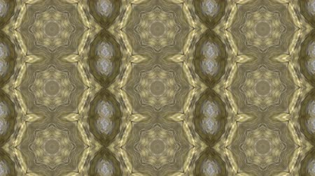dizi : Abstract animated kaleidoscope motion background. Sequence graphics ornaments patterns. White brown beige structure motifs sequins. Bright impulsively luminous light backdrop. Seamless loop background