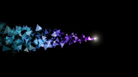 mroczne : Abstract polygonal low poly black background. Abstract cg polygonal neon blue surface. Geometric poly light motion background