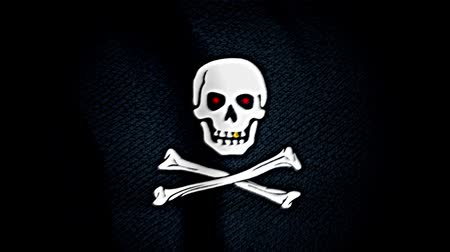 piracy : Pirate flag, red eyes. Illustration for design on black background