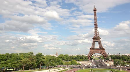 vyhlídkové : Eiffel Tower, Paris, France, Europe. View of the famous travel and tourism icon at daytime in summer  spring with blue sky,