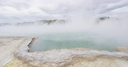champagne pool : New Zealand travel, Tourist attraction famous travel destination on North Island, Geothermal pools at Waiotapu, Rotorua. Champagne pool at Wai-O-Tapu. New Zealand.