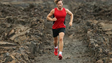 kardiyo : Sport Fitness Running - male runner closeup. Sport athlete jogging training outside living healthy lifestyle.
