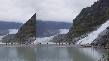 nugget : Vertical videos of Alaska nature landscape with Mendenhall Glacier and Nugget Falls waterfall