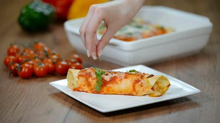 koriander : Dinner plate with Chicken enchiladas