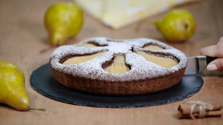 yermantarı : Homemade chocolate cake with pears. Chocolate Pear Cake.