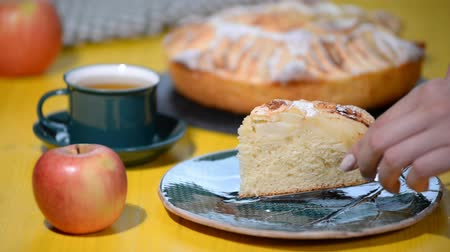 apple cake : Traditional holiday apple pie Charlotte.