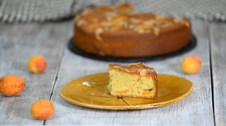 flan : Slice Of Apricot And Almond Pie.