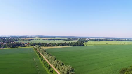 Aerial view of the river Elbe and landscape