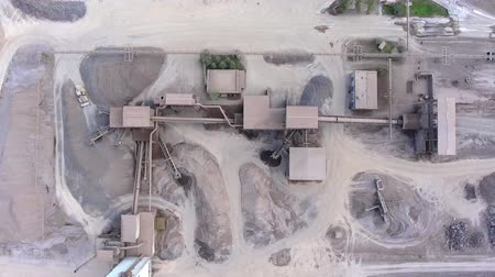 pedreira : Aerial view of open pit sand quarries. View from above.