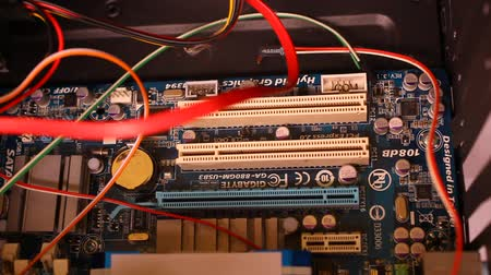 tamiri : Inside the computer. Close up macro video shift motion