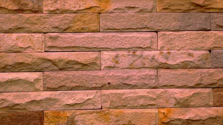 brickwall : Beauty of a brick wall in house. Macro video shift motion Stock Footage