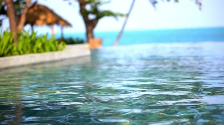 отель : Swimming pool near the sea, island Koh Samui,Thailand. Video shift motion