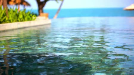 sen : Swimming pool near the sea, island Koh Samui,Thailand. Set 3 clips Video shift motion