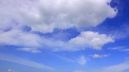gloomy sky : Time lapse of white clouds with blue sky