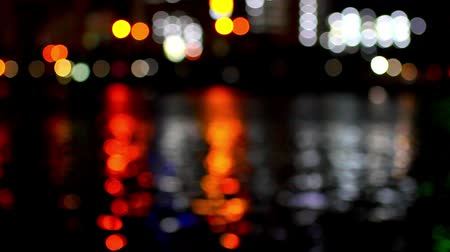 capital cities : Bangkok city at night good view. Blurred background.