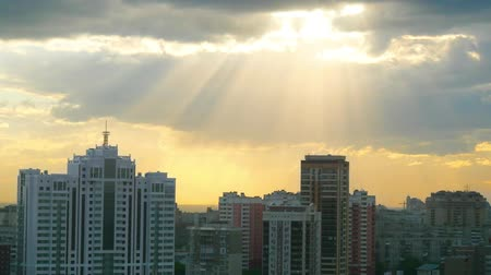 kuala lumpur skyline : Beautiful view of Novosibirsk skyline at sunset