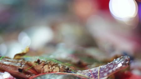 szerzetes : Pacific Ocean lobster freshly caught seafood Fish Market with beautiful bokeh. hd, 1920x1080