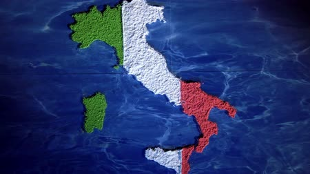 rzym : Italy map, zoom out