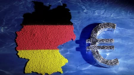 bavaria flag : Germany map and euro symbol
