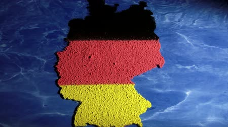 bavaria flag : Germany map, zoom out Stock Footage
