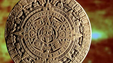 numerology : Mayan calendar, red space, zoom out Stock Footage