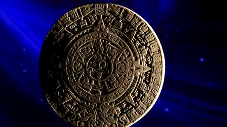 numerology : Mayan calendar, blue space, rotate Stock Footage