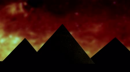 piramit : Egyptian pyramid, red sky