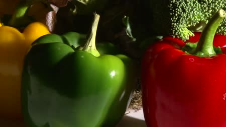 pieprz : Vegetables, rotate, closeup, hard light Wideo