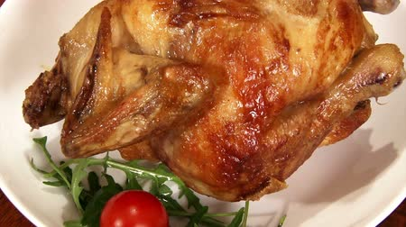сырой : Food, roast chicken, served