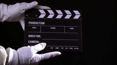 sinematografi : Clapperboard, clapper, take 1